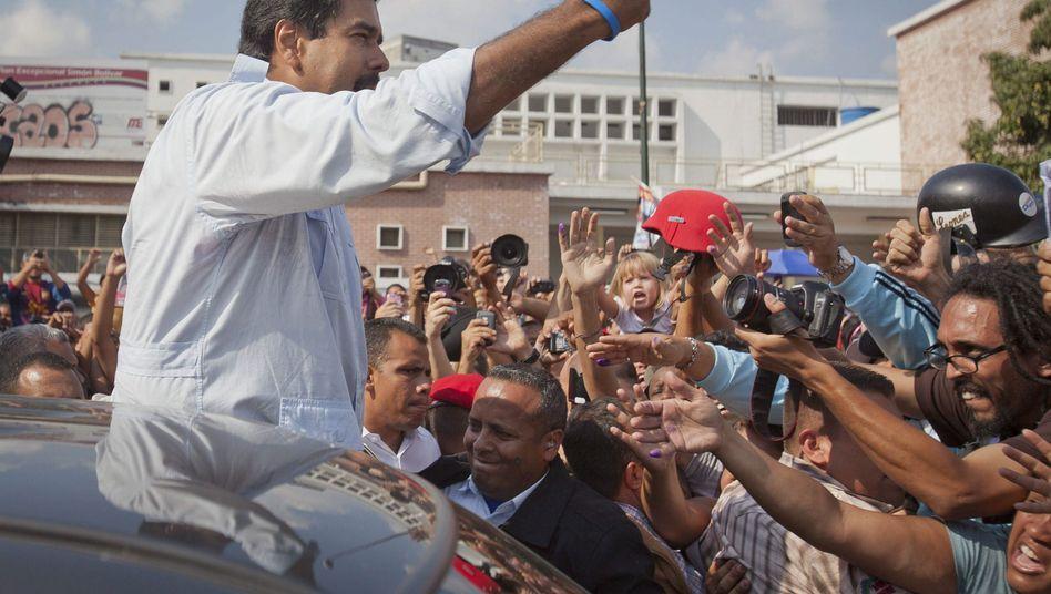 Venezuela: Chávez-Ziehsohn Maduro gewinnt Präsidentschaftswahl