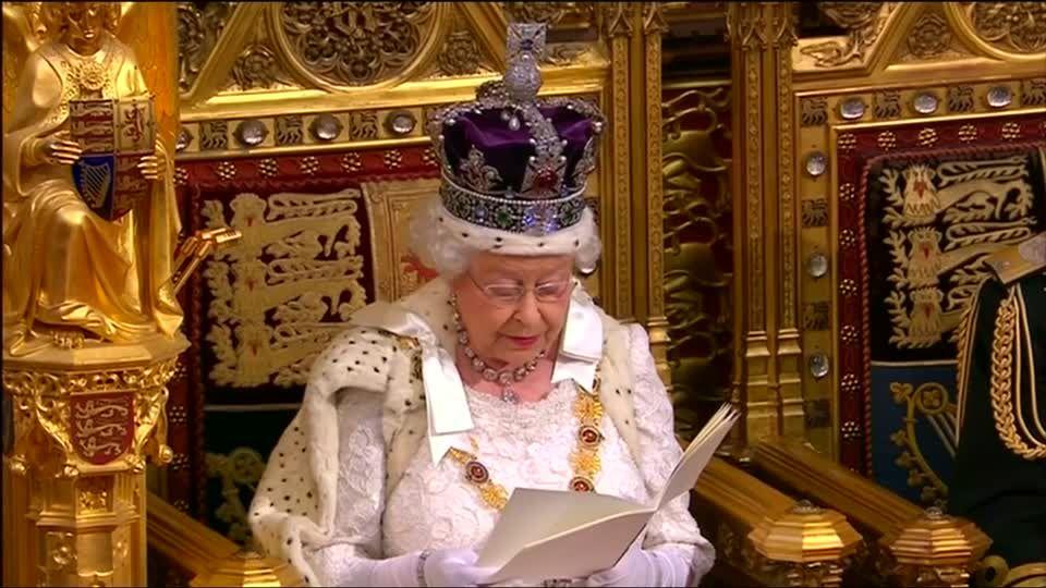 Queen Elizabeth kündigt EU-Referendum an; Video