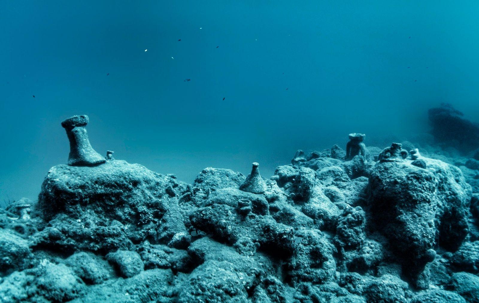 Amphorae reef, Crete, Greece