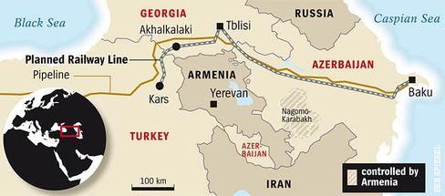 The new Transcaucasian line: conspicuously avoiding Armenia