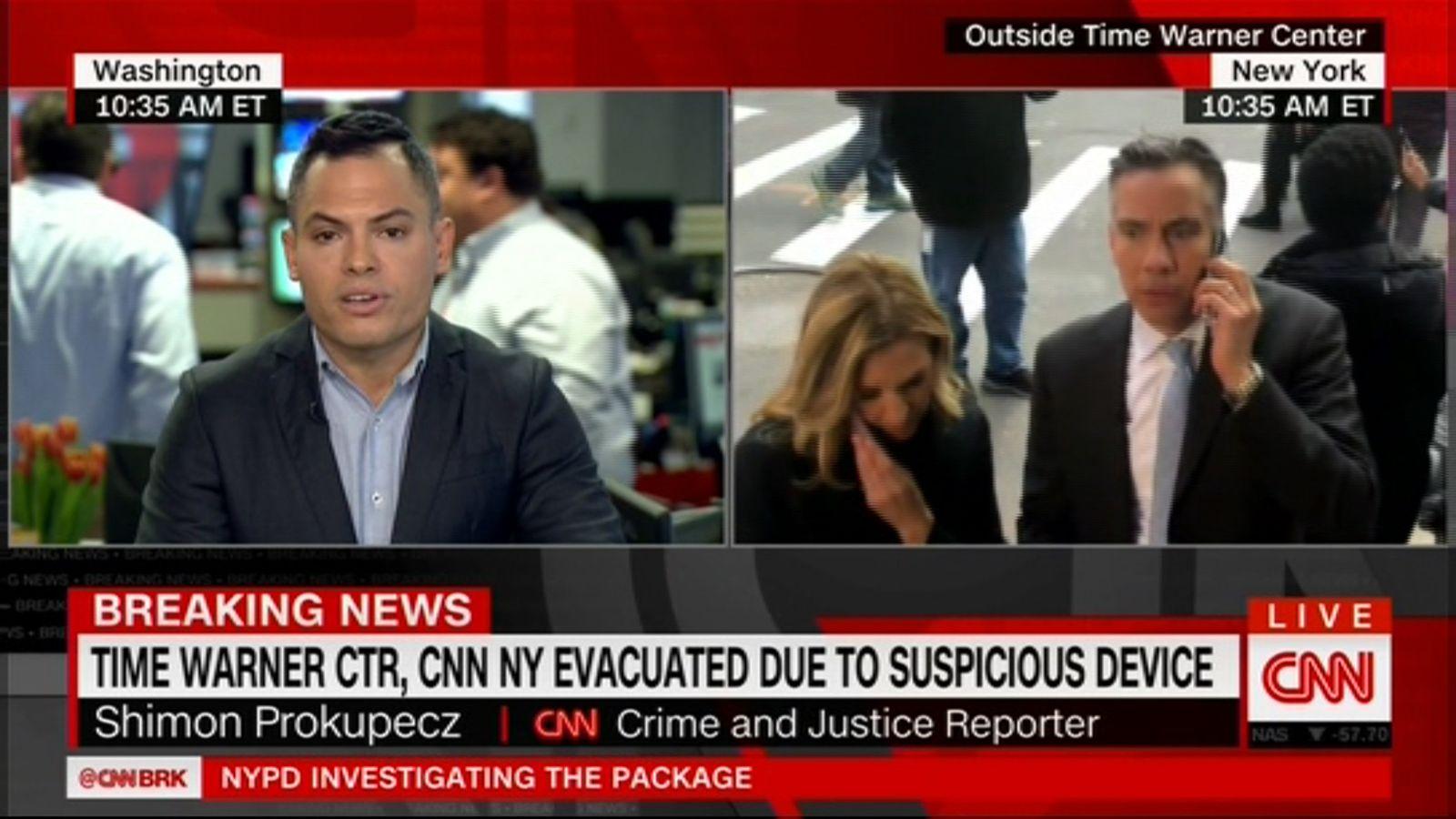 EINMALIGE VERWENDUNG CNN New York/ Evakuierung