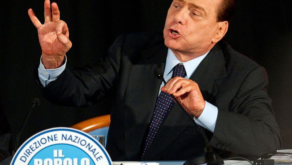 """Italiens Ministerpräsident Silvio Berlusconi: """"Politische Strömungen sind Metastasen"""""""