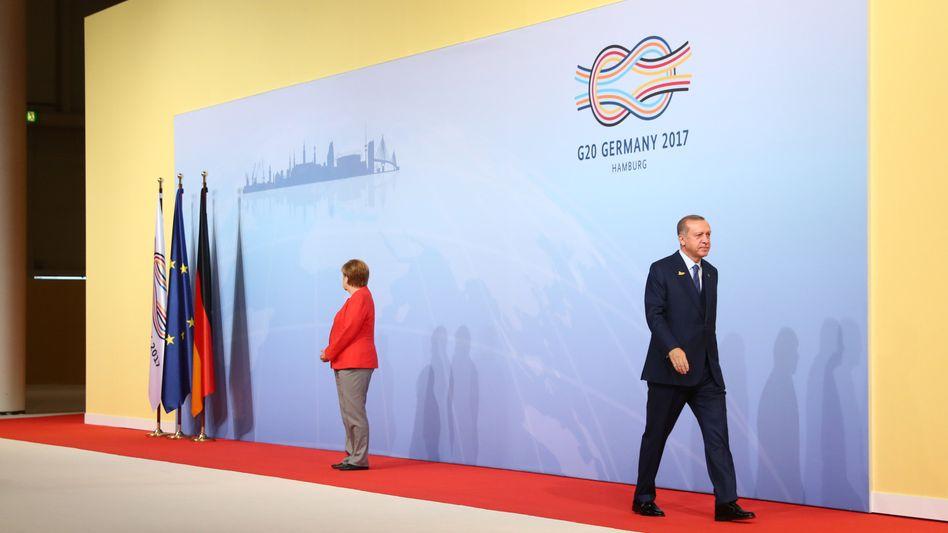 Angela Merkel, Recep Tayyip Erdogan (beim G20-Gipfel in Hamburg im Juli 2017)