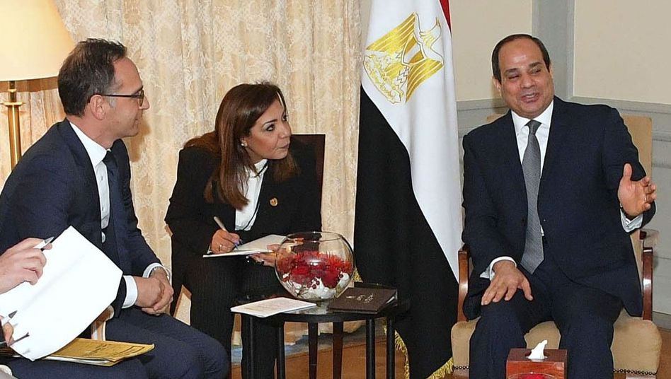 Heiko Maas (l.), Abdel Fattah el-Sisi