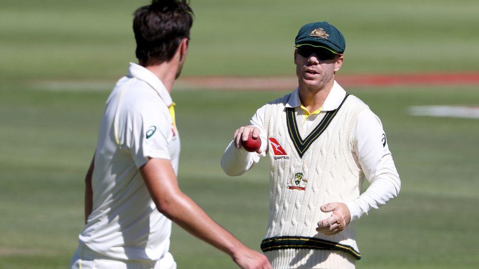 Australiens Ex-Vizekapitän David Warner beim Cricket