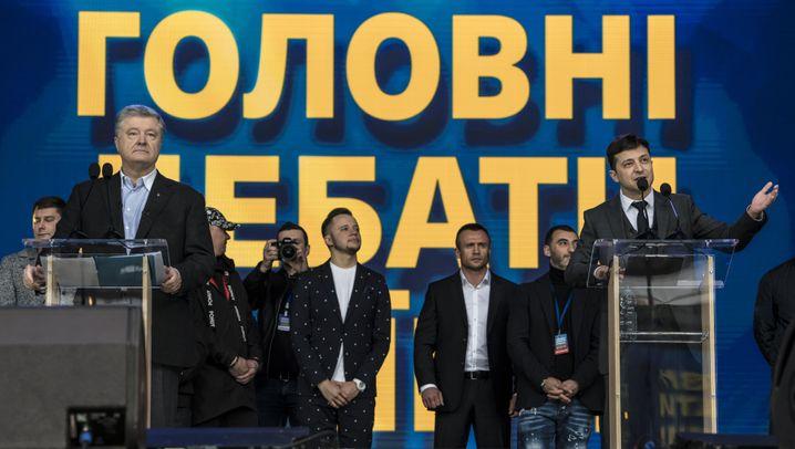Ukraine: Stadiondebatte zum Wahlkampfabschluss in der Ukraine