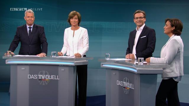 Moderatoren Kloeppel, Illner, Strunz und Maischberger