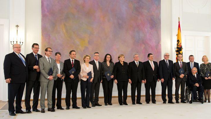 Fotostrecke: Große Mehrheit für Merkel