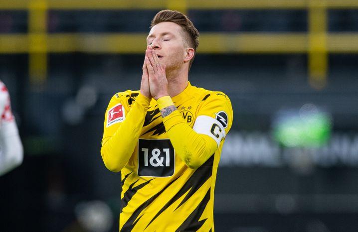 Marco Reus war mit seinem Spiel überhaupt nicht zufrieden