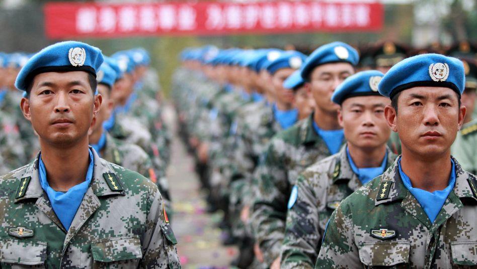 Chinesische Blauhelme für die Uno-Friedensmission Mission im Sudan