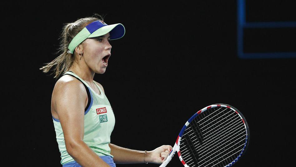Im Finale des Australian Open gewann Amerikanerin Sofia Kenin gegen die Spanierin Garbiñe Muguruza