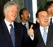 Clinton und Schröder: Erinnerungen an Kennedys berühmten Satz