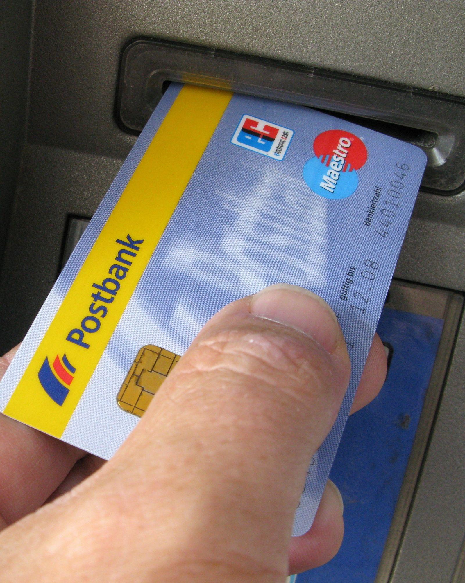 Postbank / EC Karte / Geldautomat