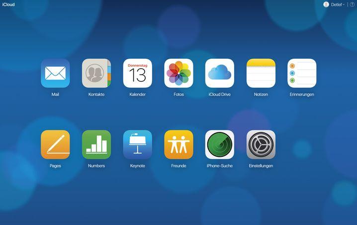 Auf die in iCloud gespeicherten Daten kann man mit einem Browser zugreifen