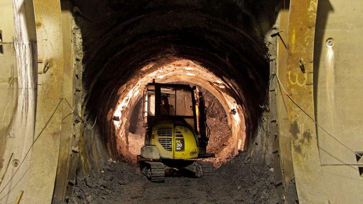 Bau des Marmaray-Bahntunnels