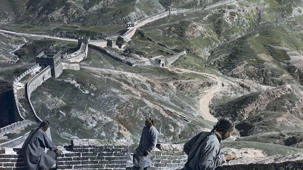 Die Große Mauer: Diese Aufnahme aus dem Norden Chinas machte Holmes 1901