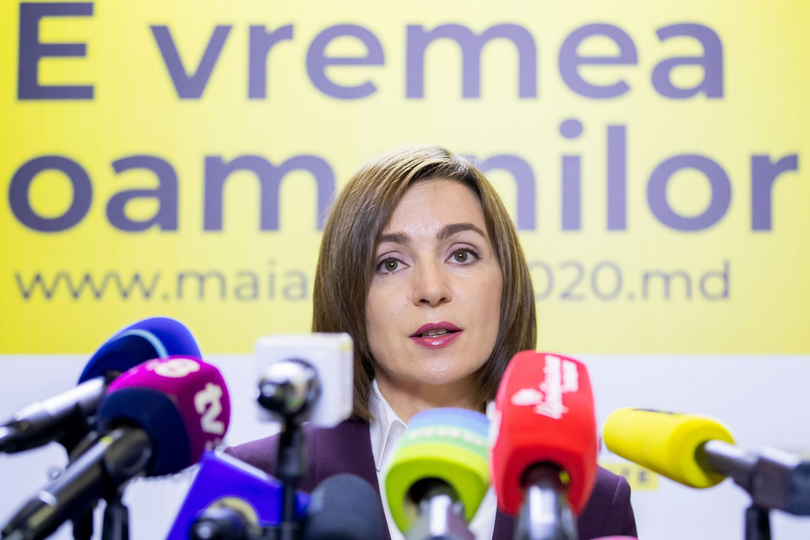 Presidential elections in Moldova, Chisinau, Moldova Republic Of - 16 Nov 2020