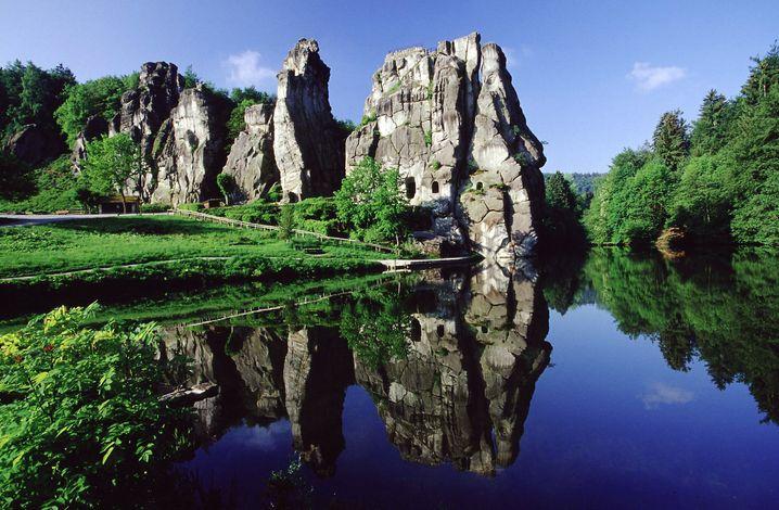 Externsteine: Felsengruppe mit mysteriösen Spuren