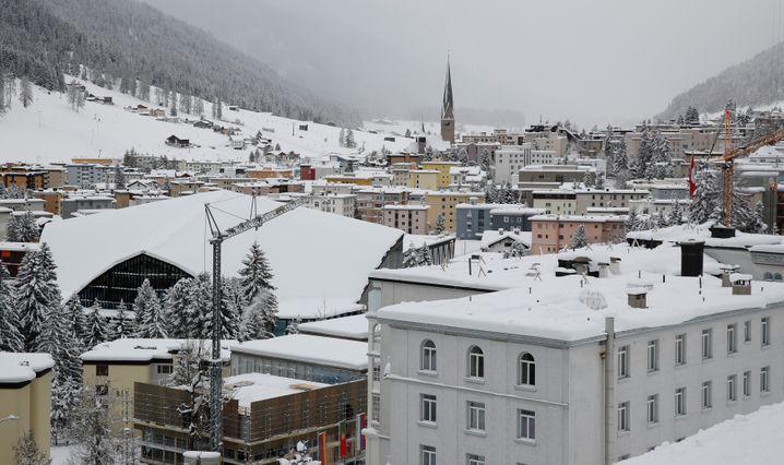 Schweizer Ort Davos