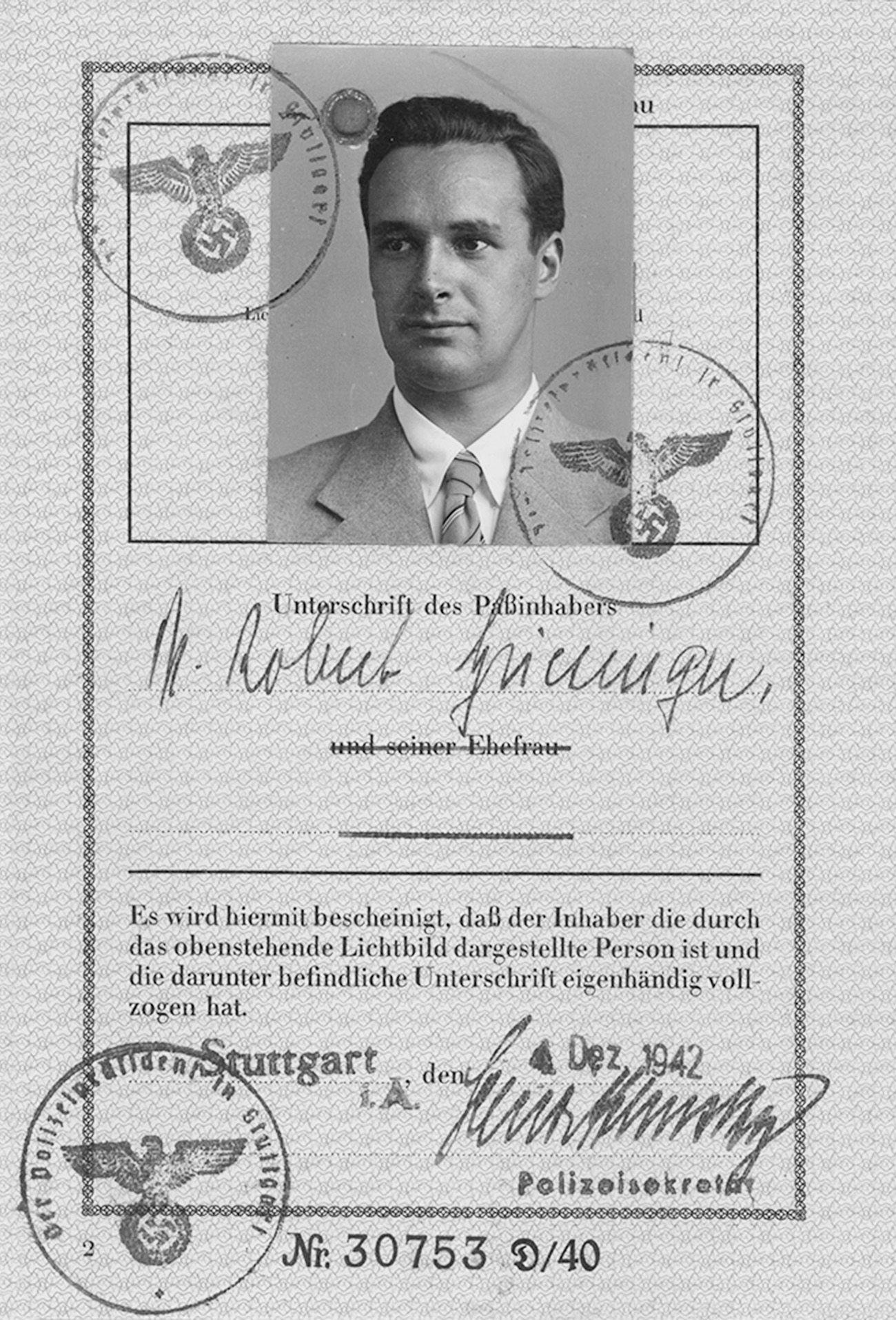 Personalausweis Robert Griesinger