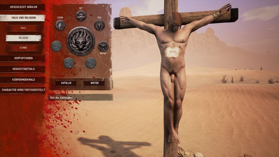 Nackter Sklave