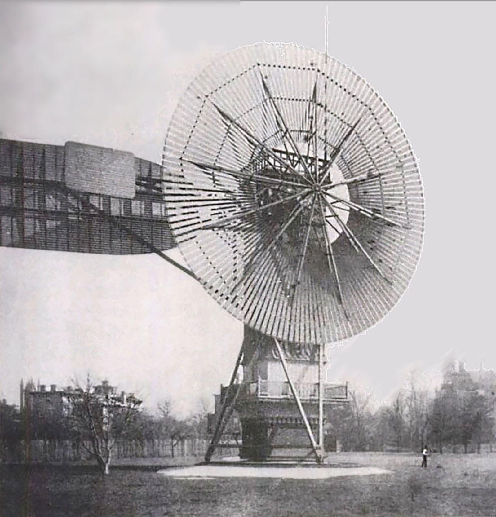 Windkraft Pioniere - Wind turbine 1888 Charles Brush