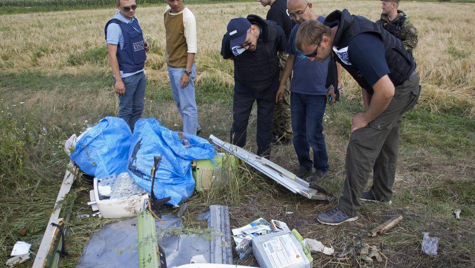 Experten an der Unfallstelle: Buk-Raketen könnten MH17 abgeschossen haben