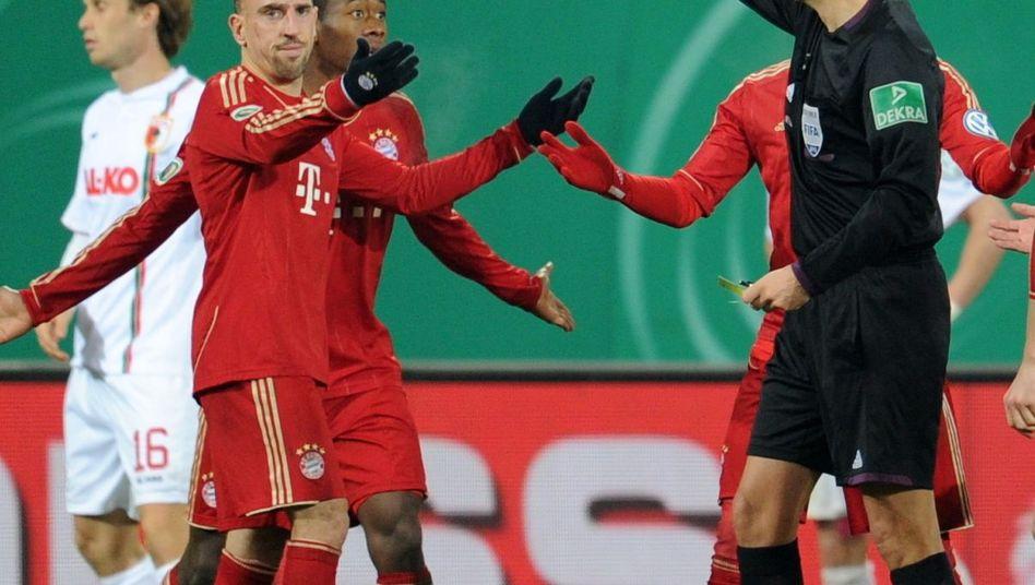 Bayern-Profi Ribéry: Rote Karte wegen Tätlichkeit
