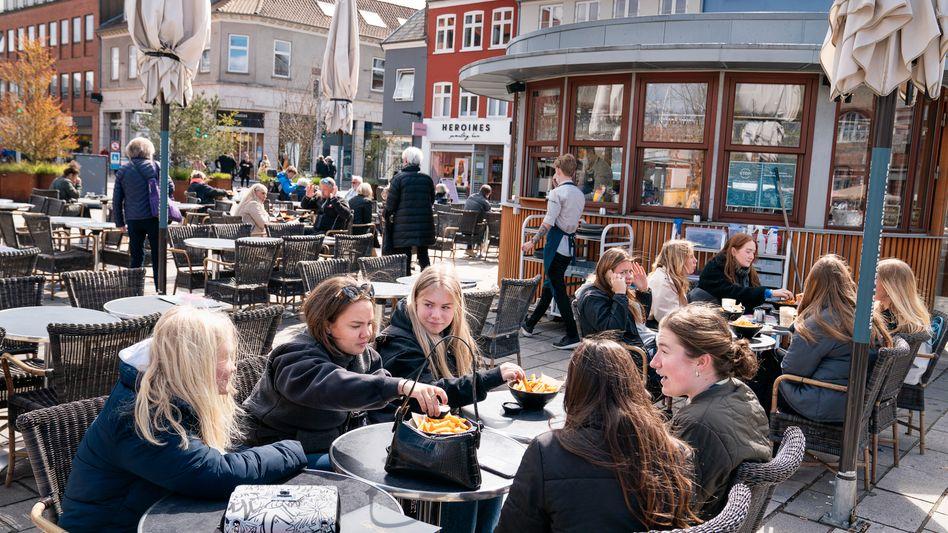 Restaurantgäste vergangene Woche in Roskilde, Dänemark