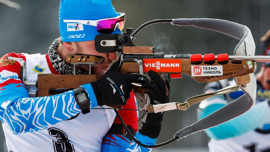 Russlands Biathlonstar Alexander Loginow