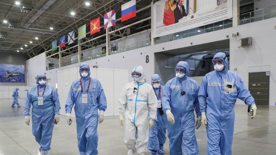 Behelfskrankenhaus für Covid-19-Patienten in der Region Moskau (2020)