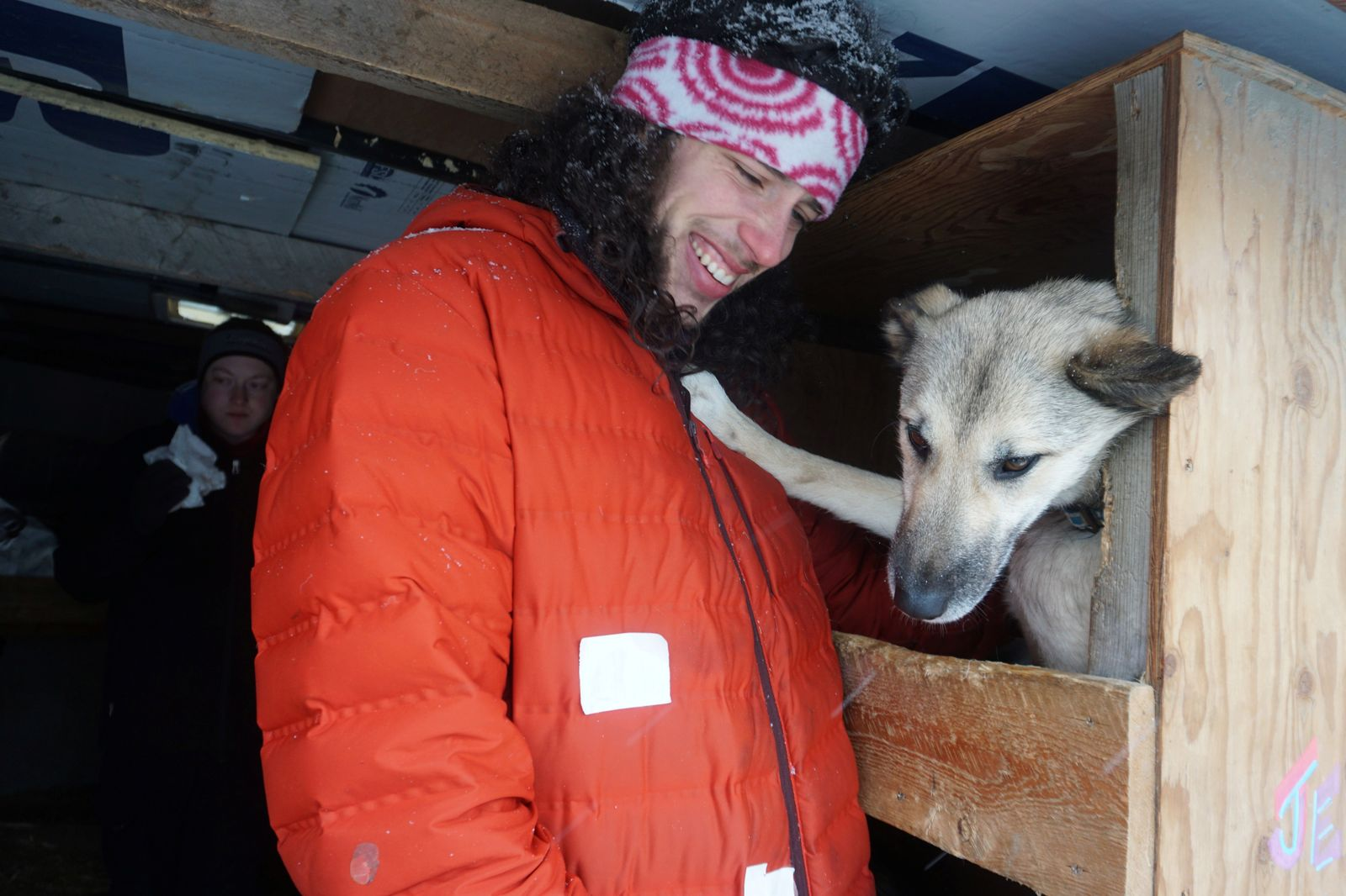 Musher Sean Underwood, a dog handler who became a last-minute substitute for four-time champion Jeff King, at the ceremonial Anchorage start of the 2020 Iditarod Trail Sled Dog Race