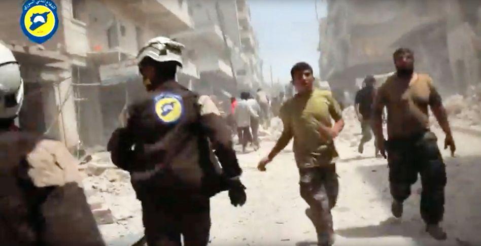 Weißhelme in Aleppo (Archivbild)