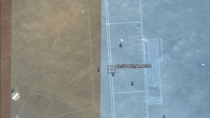 Mysteröse Bilder aus der Wüste Gobi: Der geklonte Flugplatz