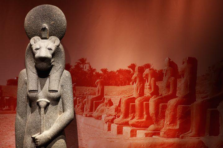 Darstellung der mächtigen Sachmet: Heilkundige verstanden es, die löwenköpfige Göttin zu besänftigen