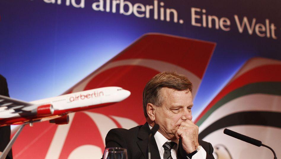 Air-Berlin-Chef Mehdorn: Unzufrieden mit dem Ergebnis