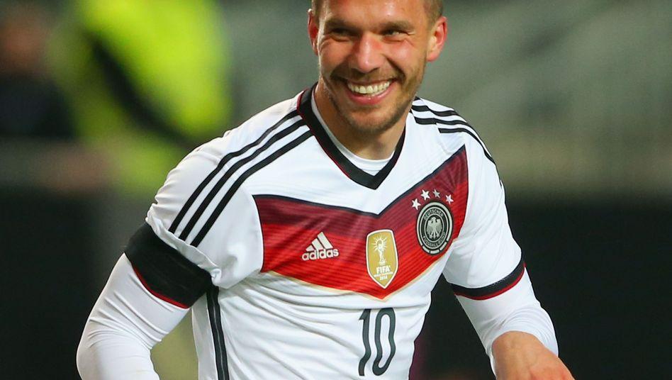 Nationalstürmer Podolski: 48. Länderspieltor
