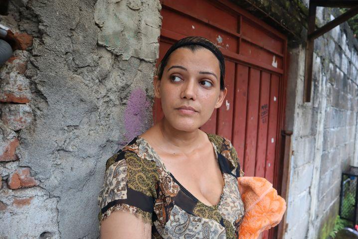 Alejandra Gutierra, 30, aus Venezuela wurde von mexikanischen Sicherheitskräften aufgehalten und lebt jetzt in einer Herberge in Tapachula, Mexiko