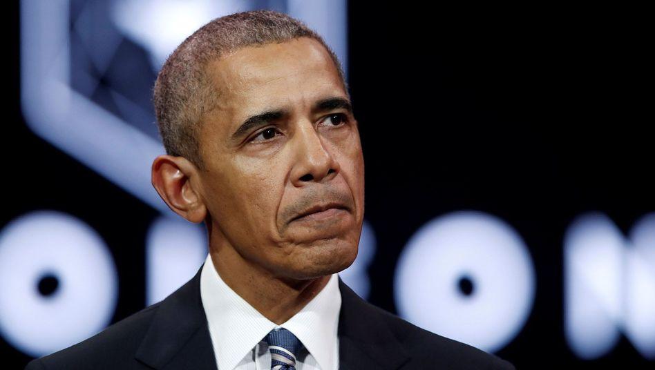 Nicht still: Barack Obama