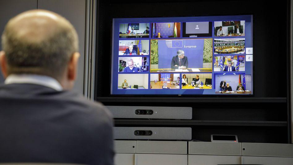 """Videokonferenz mit Bundesfinanzminister Scholz und seinen Kollegen: """"Arbeit der nächsten Wochen und Monate"""""""
