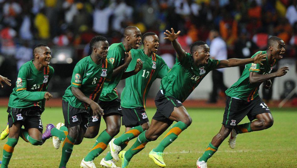 Afrika-Meister Sambia: Sieg im Elfmeterschießen gegen die Elfenbeinküste