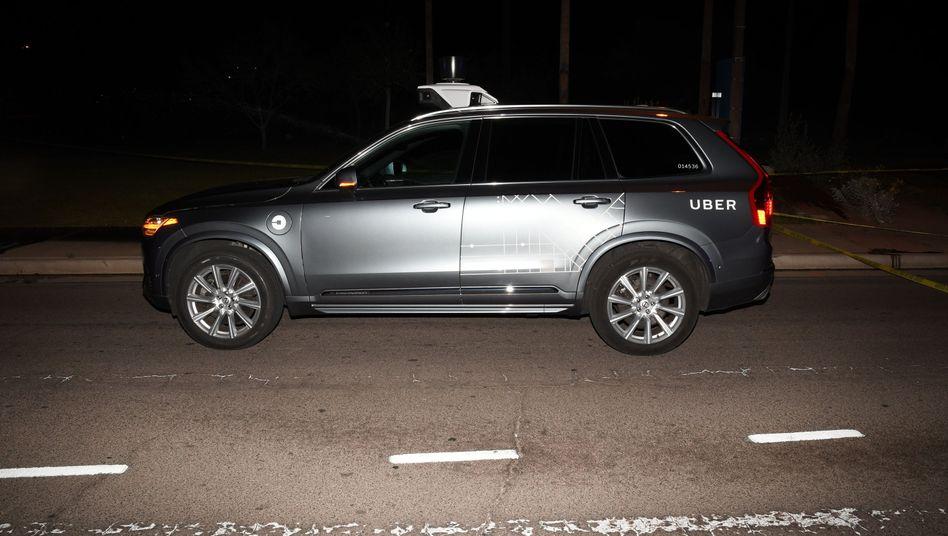 Unfall-Auto von Uber (Archivbild)