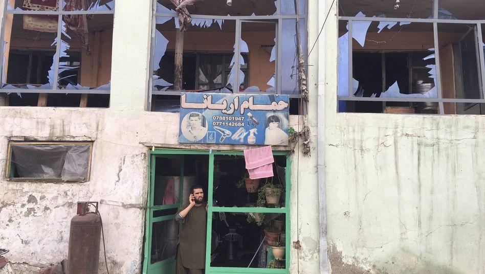 Kabul nach der Explosion