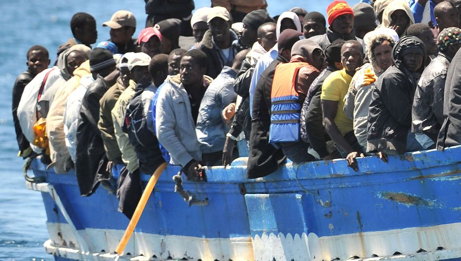 Italian Prime Minister Silvio Berlusconi wants the EU to help with the 'human tsunami' of refugees from North Africa.