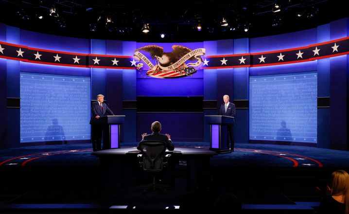 Hart, aber nicht herzlich: Trump und Biden bei der Debatte