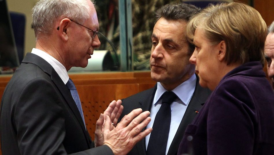 Machtzentrum: Herman Van Rompuy (li.) soll Chef der Wirtschaftsregierung werden