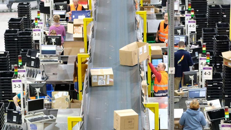 Amazon-Mitarbeiter in Leipzig (Archivbild)