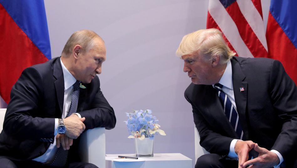 Putin und Trump (Juli 2017 in Hamburg)