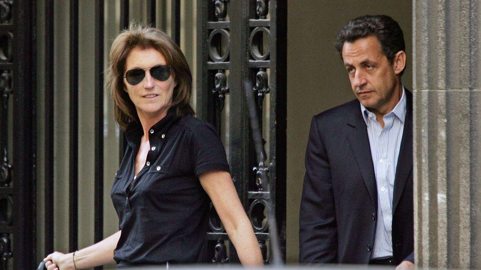 Cécilia und Nicolas Sarkozy 2007 als Ehepaar in Paris