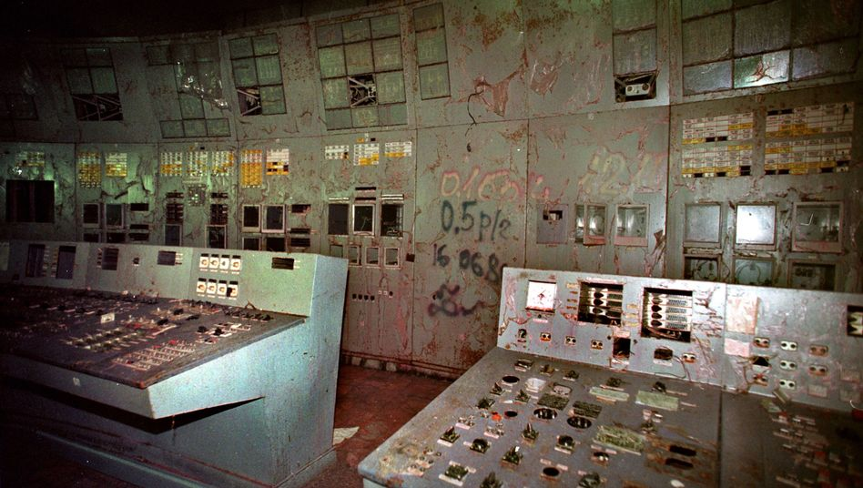 A look inside the control room of Chernobyl reactor 4, which blew up on April 26, 1986.